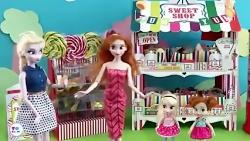 بازی با باربی ، خریدن انواع شکلات ها ، بازی کردن بچه باربی ها ، راپونزل ، سفید ب