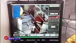 انفجار وحشتناک سیلندر اکسیژن در یک قدمی کارگر میانسال