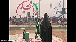 تعزیه حضرت علی اکبر - وداع با علی اصغر