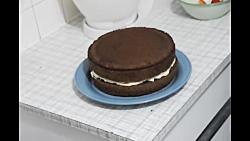آموزش درست کردن کیک تولد با روکش شکلات