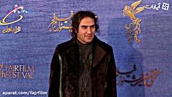 رضا یزدانی روی فرش قرمز جشنواره فیلم فجر