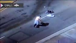 تعقیب و گریز پلیس و راننده خلافکار در کالیفرنیا با حادثه رانندگی به پایان رسید