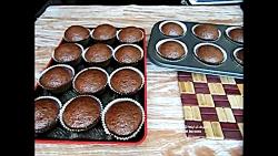 طرز تهیه کاپ کیک شکلاتی در خانه - chocolate cupcake recipe