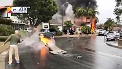 سقوط مرگبار هواپیما بر روی واحد مسکونی در کالیفرنیا