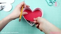 کاردستی زیبای جعبه قلب