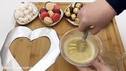 بیسکو کیک قلبی ولنتاین