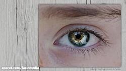 آموزش ترسیم و نقاشی چشم حیوانات با آبرنگ
