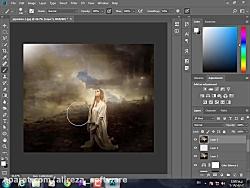 آموزش ترکیب تصاویر و ایجاد افکت در فتوشاپ
