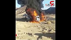 آتش زدن 2 کامیون حامل خو...