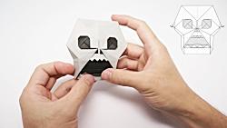اوریگامی صورت اسکلت - آموزش ساخت صورت اسکلت کاغذی - کاردستی