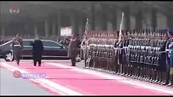 رژه نیروهای مسلح کره شمالی در مراسم روز ارتش