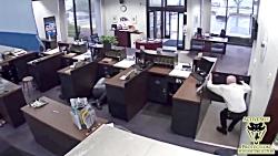 تصاویری از سرقت مسلحانه از یک بانک در آمریکا