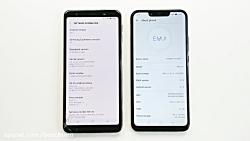مقایسه سرعت گوشی های سامسونگ گلکسی A7 2018 و هوآوی نوا 3i