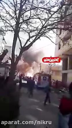 لحظهی انفجار وحشتناک کپسول های گاز در فردیس!