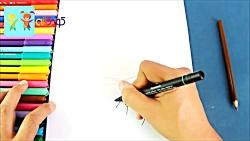 نقاشی بچه رئیس - آموزش نقاشی به کودکان - قصه های فارسی کودکانه