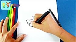 آموزش نقاشی تمساح بازیگوش به زبان فارسی- قصه ها و آوازهای کودکان