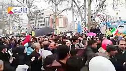 حضور رییس جمهور روحانی در راهپیمایی 22 بهمن
