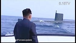 لحظه شلیک موشک بالستیک از زیردریایی ارتش کره شمالی