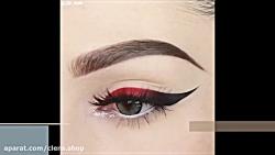 آرایش چشم . خط چشم . خط چشم گربه ای | خرید لنز رنگی | clens.ir