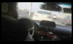 تعقیب و گریز پلیس با سارق مسلح در اتوبان تهران ـ کرج