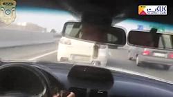 تعقیب و گریز نفس گیر پلیس با یک سارق در جاده مخصوص تهران