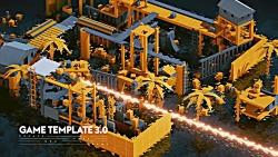 Game Template مجموعه ای از عناصر محیط با 160 عناصر