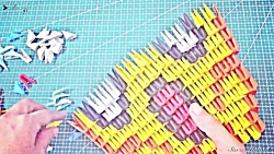 اوریگامی سه بعدی صورت اسکلت - آموزش ساخت صورت اسکلت کاغذی - کاردستی