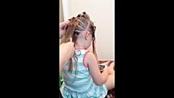 آموزش بافت و شینیون مو کودک - آرایش مو - شینیون