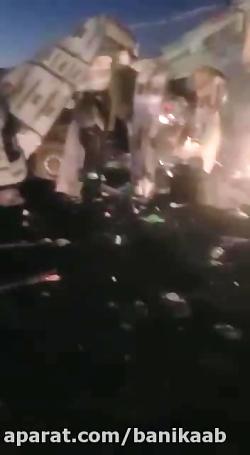 فیلم جدید از حمله انتحاری به اتوبوس حامل نیروهای سپاه سیستان وبلوچستان