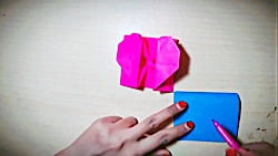 اوریگامی جعبه قلب ولنتاین - آموزش ساخت جعبه قلب کاغذی - کاردستی