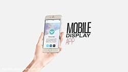 پیش نمایش ویدئویی قالب نمایش صفحه موبایل برای برنامه های تبلیغاتی در افترافکت