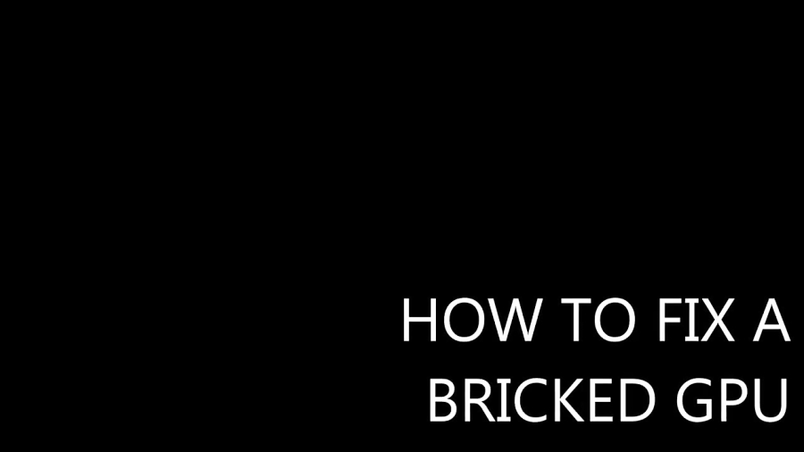 How to FIX your Bricked GPU BIOS - Bootable DOS Drive Method - HD6950 fail