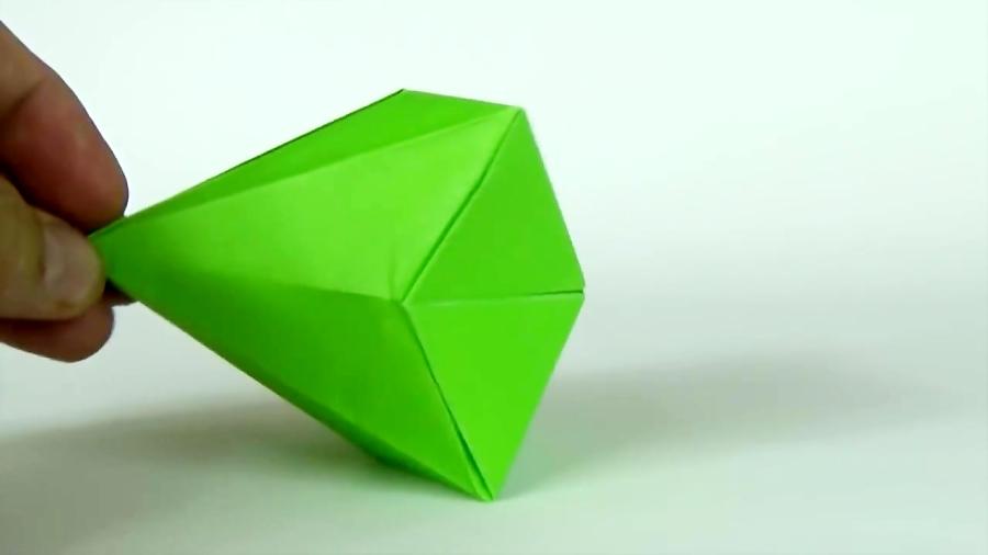 اوریگامی الماس - آموزش ساخت الماس کاغذی - کاردستی