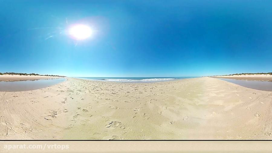 فیلم واقعیت مجازی آرام بخش کنار دریا