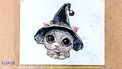 How to Draw Cat in Hat - Super Cute - Step by Step Tutorial