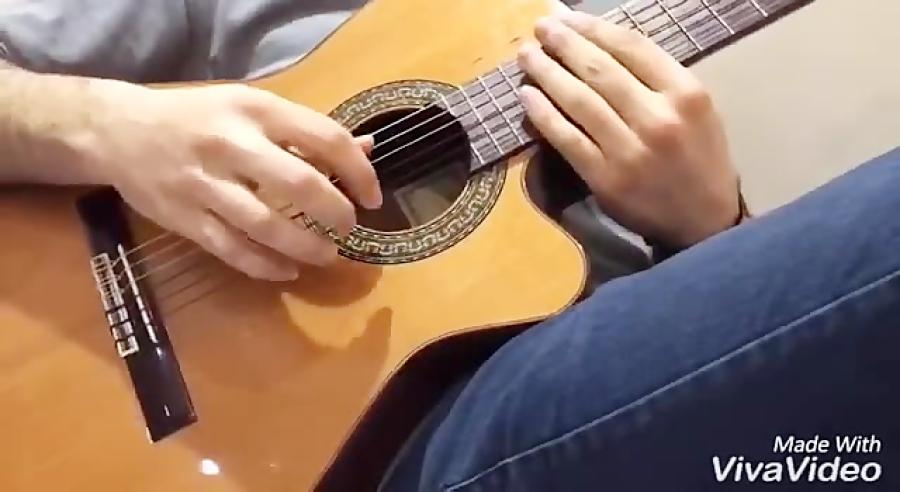آموزش الگوى تمرینى در گام لامینور گیتار فرزین نیازخانى