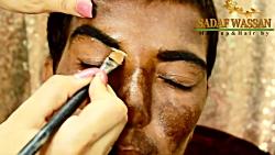 تغییر معجزه آسا با آرایش و گریم صورت - آرایش مرد شکل زن