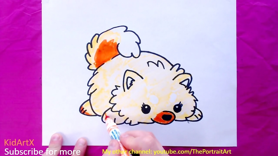 How to Draw Dog / Puppy - Step by Step Tutorial For Kids