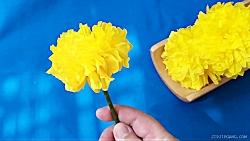 آموزش کاردستی - ساخت گل تزئینی | Microsoftco.ir