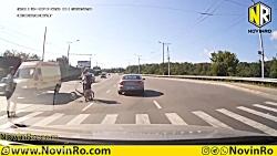 تصادف وحشتناک دوچرخه سواران
