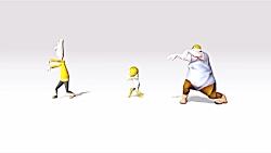 انیمیشن کوتاه رقص زیبا و بامزه