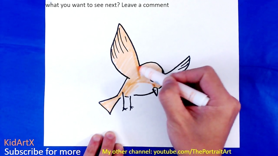 How To Draw Tatoo Bird Step By Step Tutorial For Kids
