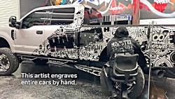 هنر نقاشی و حکاکی روی بدنه خودرو Hanro Studios