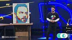 نقاشی چهره احسان علیخانی با مکعب روبیک - قسمت 2 برنامه عصر جدید