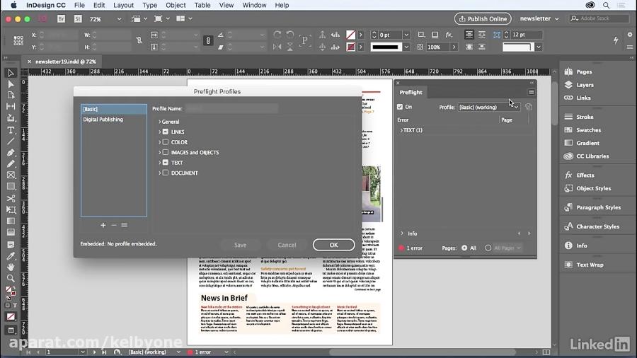 دوره طراحی روزنامه - قبل از پرواز سند