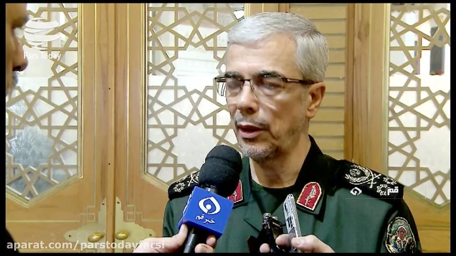سرلشکر باقری: حضور تروریست ها در پاکستان ادامه یابد، ایران راسا عمل می کند
