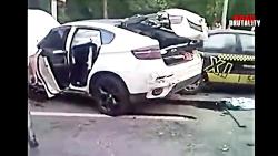 تصادف رانندگی خودروی BMW بی ام و اسپورت