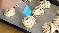 نان شیرین خوشمزه ترکی Twisted Sweet Rolls