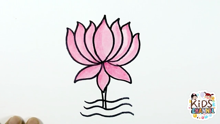Lotus Drawing Simple How To Draw A Lotus Flower Lotus Coloring Page