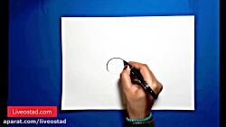 آموزش نقاشی برای کودکان - خوک کارتونی